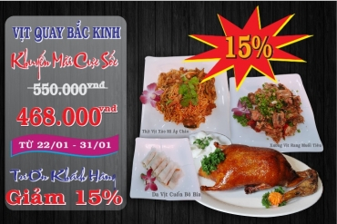 SHOCK TO BEIJING ROASTED DUCK WITH 3 DISHES  EATING IS ADDICTIVE! SALE UP TO 15% ONLY HERE – SAIGON RESTAURANTS